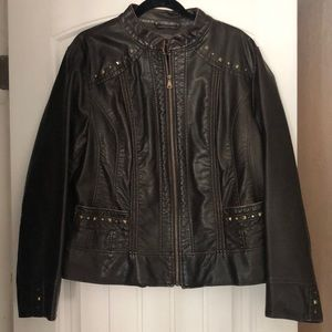 Nordstrom - Gallery Woman - Faux Leather Jacket 1X